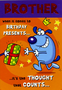 birthday brother card, Birthday card