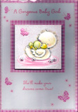 birth of baby girl card 1283