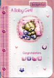 birth of baby girl card 1401