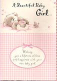 birth of baby girl card 1402