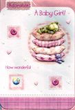 birth of baby girl card 1405