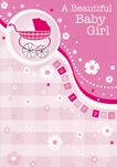birth of baby girl card 1932